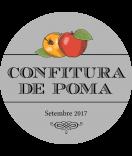 Vintage Etiketten rund Farmers Market 60 mm Apfel grau