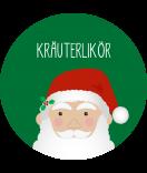 Klebe-Etiketten rund Santa 60 mm grün
