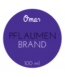 Omas Klebe-Etiketten rund violett 60 mm