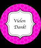 Klebe-Etiketten rund Frame 60 mm pink