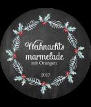 Klebe-Etiketten rund 60 mm Rustic Christmas chalkboard
