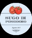 Vintage Etiketten rund Farmers Market Tomate blau