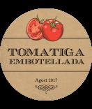 Vintage Etiketten rund Farmers Market 60 mm Tomate kraft