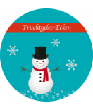 Klebe-Etiketten rund Frosty 60 mm türkis