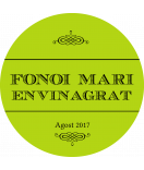 Vintage Etiketten rund Farmers Market 60 mm grün
