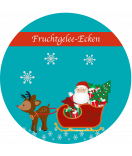 Etiketten Weihnachten rund Santa 60 mm