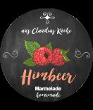 Himbeer Etiketten rund Farmers Market Chalk 60 mm