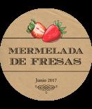 Vintage Etiketten Farmers Market 60 mm Erdbeer kraft