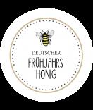 Klebe Etiketten rund Sweet Honey 60 mm