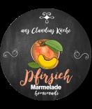Pfirsich Etiketten rund Farmers Market Chalkboard 60 mm