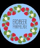 Klebe-Etiketten rund Sweet Fruits 60 mm Erdbeer blau