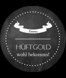 Klebe-Etiketten rund, Chalkboard Shaded 60 mm schwarz
