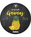 Ananas Etiketten rund Farmers Market Chalkboard 60 mm