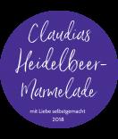 Klebe-Etiketten rund Glamorous 60 mm