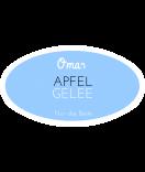 Omas Klebe-Etiketten oval hellblau 80 x 45 mm