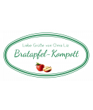 Etiketten für Einmachgläser oval Ilona's Finest Apfel 80 x 45