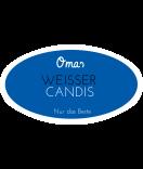 Omas Klebe-Etiketten oval blau 80 x 45