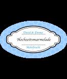 Klebe-Etiketten oval Frame 80 x 45 mm blau