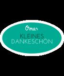 Omas Klebe-Etiketten oval türkis 80 x 45 mm