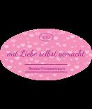 Klebe-Etiketten oval Tiny Hearts 80 x 45 mm rosa