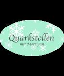 Klebe-Etiketten oval Snowflakes 80 x 45 mm mint