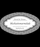 Klebe-Etiketten oval Frame 80 x 45 mm grau