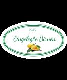 Etiketten für Einmachgläser oval Ilona's Finest Birne 80 x 45