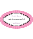 Klebe-Etiketten oval Frame 80 x 45 mm rosa
