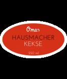 Omas Klebe-Etiketten oval rot 80 x 45 mm