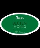 Omas Klebe-Etiketten oval dunkelgrün 80 x 45 mm