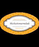 Klebe-Etiketten oval Frame 80 x 45 mm orange