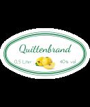 Etiketten für Einmachgläser oval Ilona's Finest Quitte 80 x 45