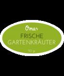 Omas Klebe-Etiketten oval grün 80 x 45 mm