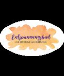 Klebe-Etiketten oval Watercolor Splash 80 x 45 mm gelb