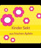 Klebe Etiketten Cherry Blossom gelb 95 x 90 mm