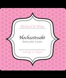 Klebe-Etiketten Frame 95 x 90 mm  rosa