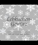 Klebe-Etiketten Snowflakes 95 x 90 mm grau