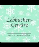 Klebe-Etiketten Snowflakes 95 x 90 mm mint