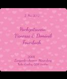 Etiketten Hochzeitswein Herz 95 x 90 mm