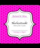 Klebe-Etiketten Frame 95 x 90 mm pink