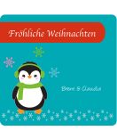 Etiketten Weihnachten Happy Pinguin 95 x 90 mm