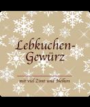 Klebe-Etiketten Snowflakes 95 x 90 mm braun
