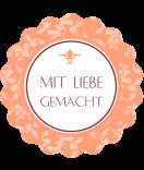 Klebe-Etiketten rund  Floral 44 mm peach