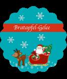 Etiketten Weihnachten rund Santa 44 mm