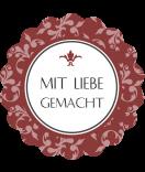 Klebe-Etiketten rund  Floral 44 mm bordeaux