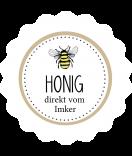 Klebe-Etiketten rund Sweet Honey 44 mm