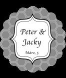 Klebe-Etiketten rund Frame 44 mm grau