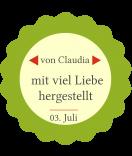 Klebe-Etiketten rund Home made 44 mm grün