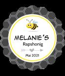 Honig Etiketten Maya 44 mm rund mit Wellenrand