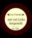 Klebe-Etiketten rund Home made 44 mm braun